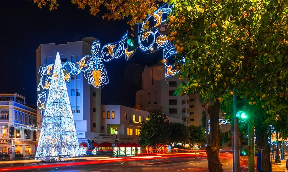 christmas displays light up the costa del sol