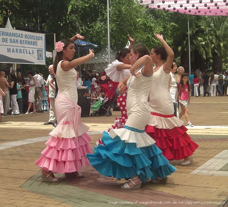 Marbella Feria Flamenco Dancing